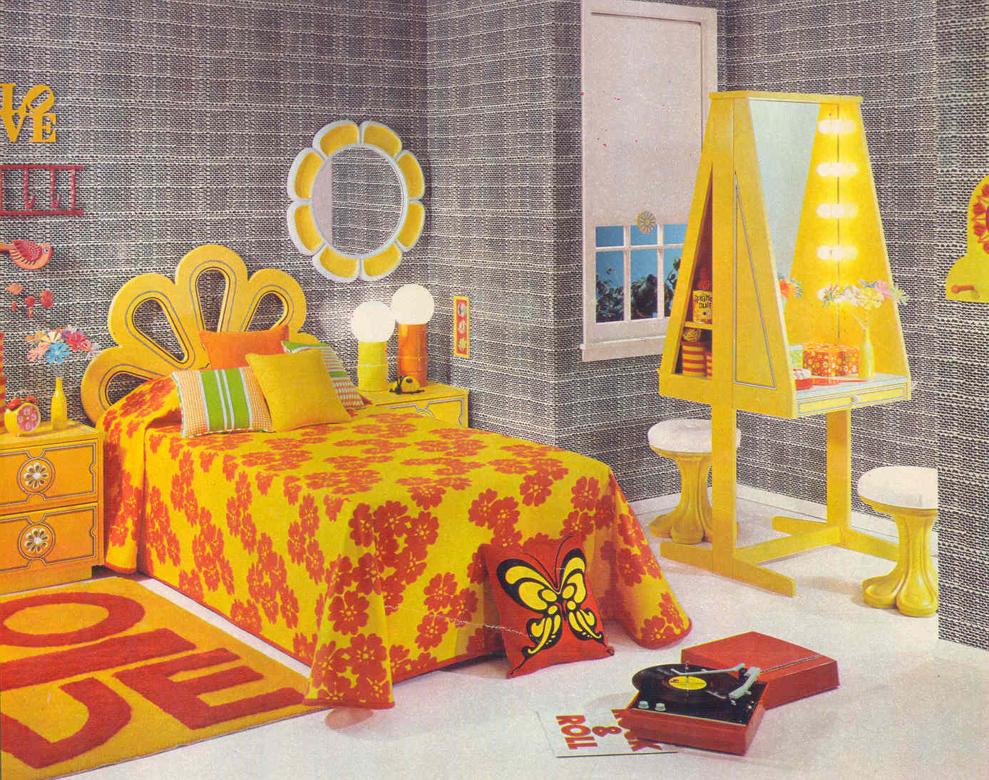 gold country girls: Bright And Colorful 70\'s Bedrooms Featuring ...