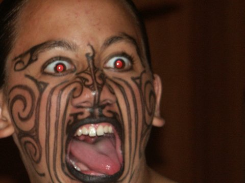 8) Tribal tattoos HURT, especially if you get them on your face.