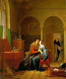 Los amores de Eloísa y Abelardo Jean Vignaud (1819)