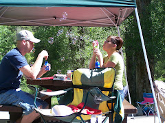 ERIC & KADEE ENTERTAINING EACH OTHER WITH BUBBLES!