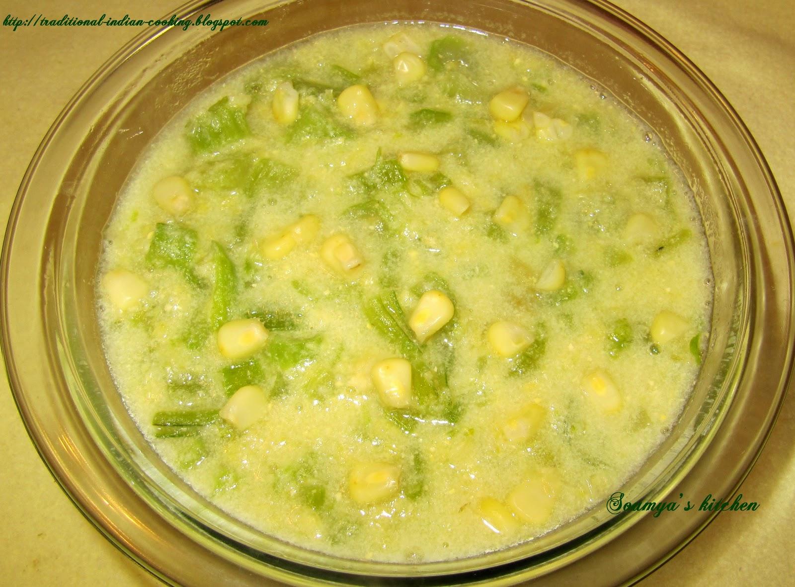 Soumya's kitchen: CELERY AND SWEET CORN SOUP