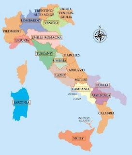 Regional Map of Italy