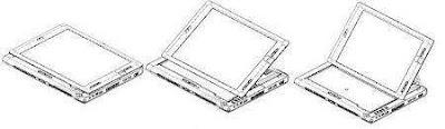Raffigurazione grafica della modalità di trasformazione del Tablet PC convertibile Acer C200