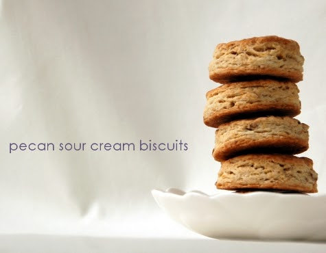 made by melis: pecan sour cream biscuits