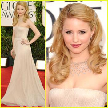 dianna agron hair half up. The two decided on a half-up