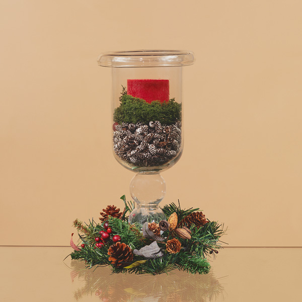 Candlelight solutions pillar candle holders for Christmas pillar candle holders