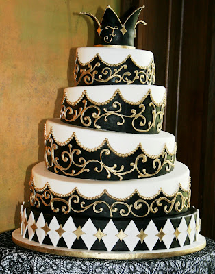 wedding cakes black and white decorate