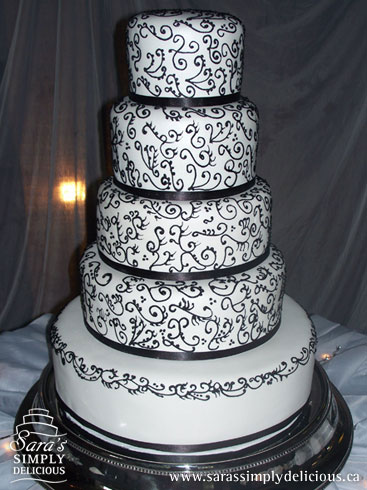 black white wedding cakes black white wedding cakes. Black Bedroom Furniture Sets. Home Design Ideas
