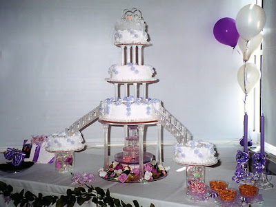 wedding cakes decorate with fountains