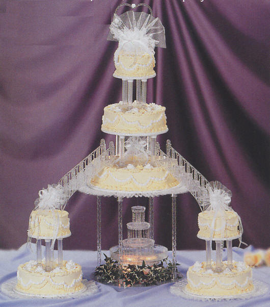 Wedding Cakes With Fountain And Stairs