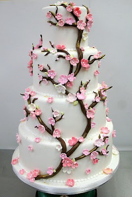 cherry tree wedding cake