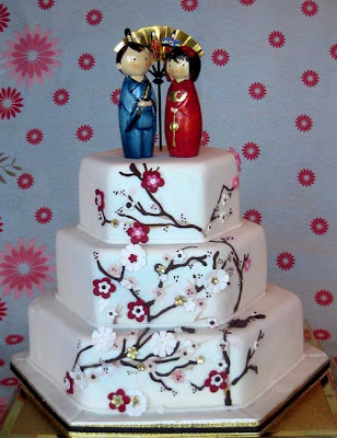 Japanese wedding cake