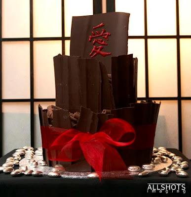 Japanese chocolate wedding cake