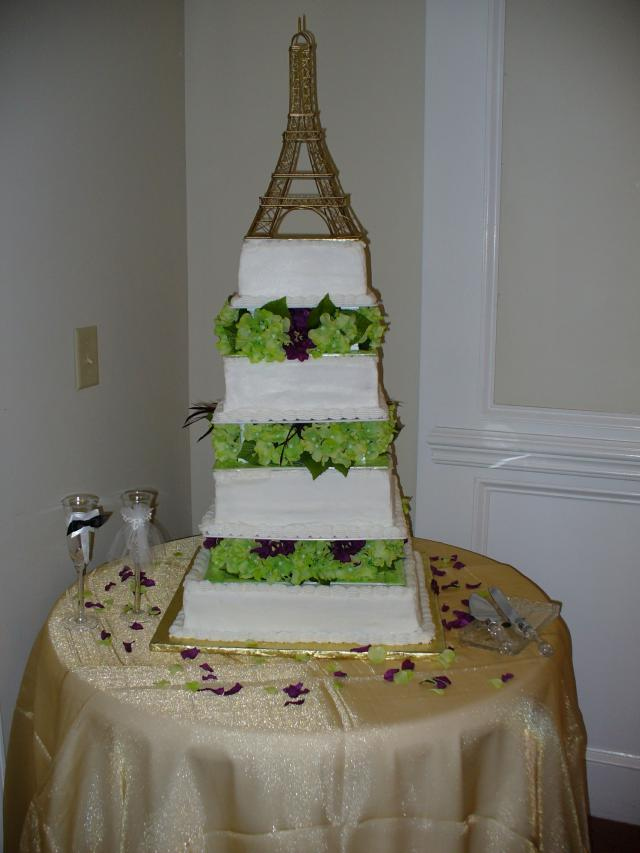 Paris Tower Above The Wedding Cake