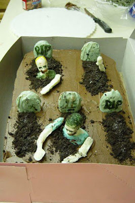 zombies wedding cake decorated picture