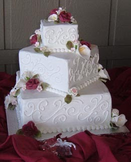 aquare wedding cakes ideas decorate