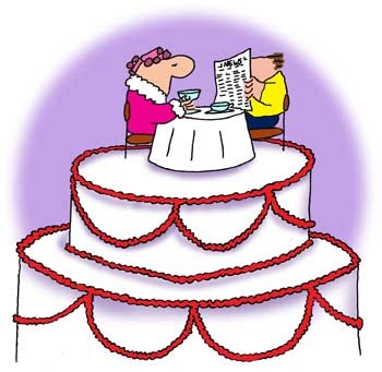 Wedding cakes cartoon