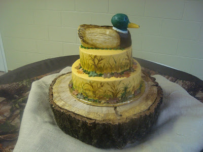 duck wedding cake