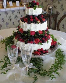 fruit wedding cake design