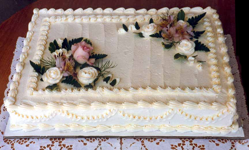 Wedding Sheet Cakes Decorated With Flowers And Decor Love ...