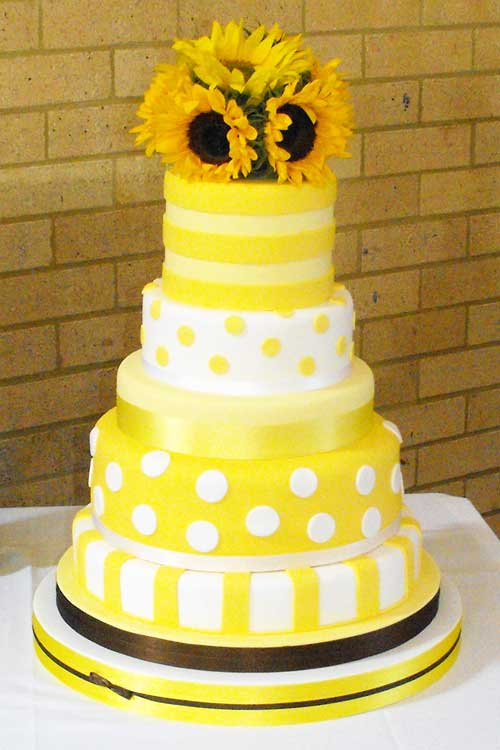"Yellow Wedding Cakes ""Cake Picture"""
