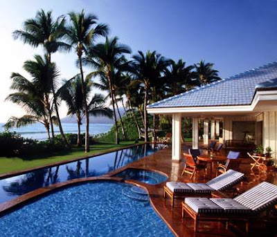 Traumh user luxus immobilien luxusvilla auf hawaii for Beach holiday house designs
