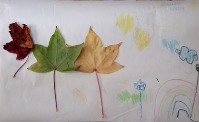 Activities for preschool children: Make a leaf picture