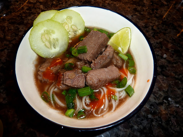 Tomatoes on the Vine: Southeast Asian Beef and Rice-Noodle Soup