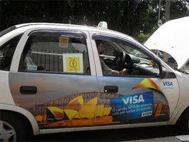 Propaganda em táxis é liberada