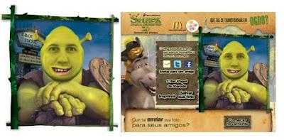 Mc Donald's transforma internautas no Shrek