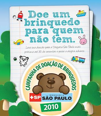 Campanha de Doação de Brinquedos na Drogaria São Paulo