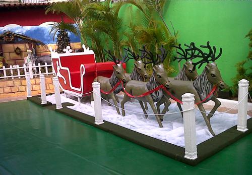 Coca-Cola monta Casa do Papai Noel