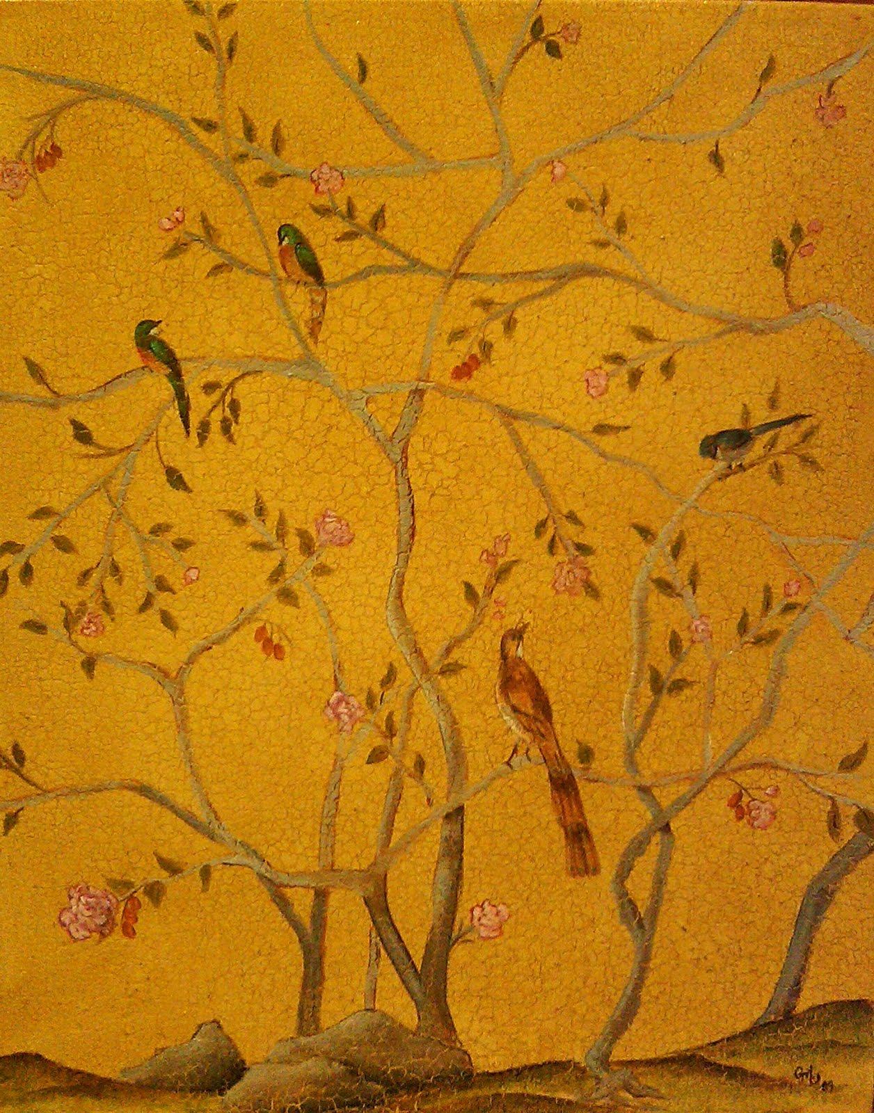 A Year of Art: Chinoiserie Painting Class Dec. 4 1-3pm
