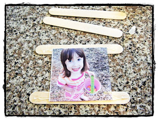 mama dramalogues tutorial spring garden picture frame