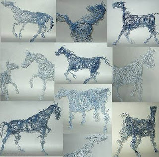 metal wire sculptures