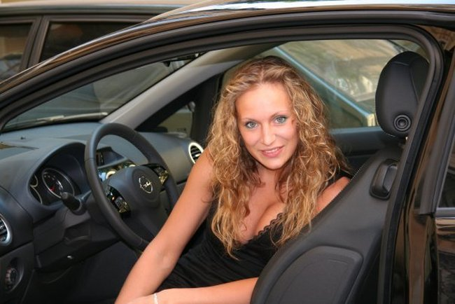 A compilation of cute woman drivers