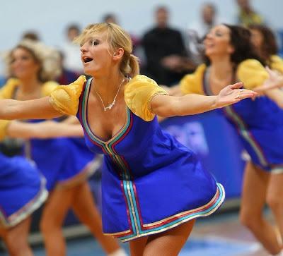Basketball cheerleaders