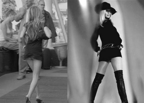 Mini skirt girls, then and now