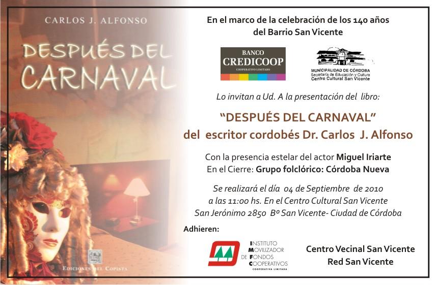 """Presentación de libro: """"Después del Carnaval"""""""