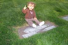 Visiting Grandpa's Grave
