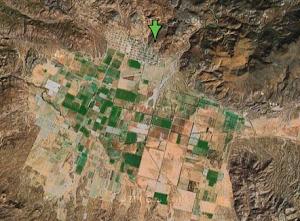 Imagen satelital del Valle
