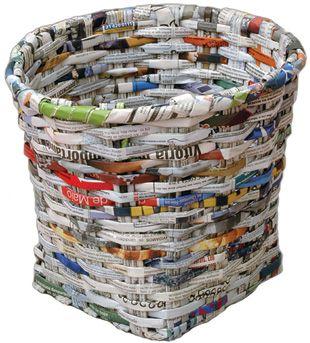Enreda2 - Cesta de papel de periodico ...