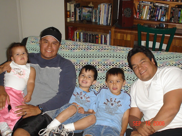My little fam with my brother