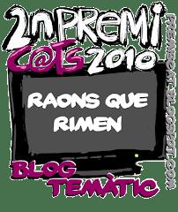 2n premi blog temàtic Premis cat 2010