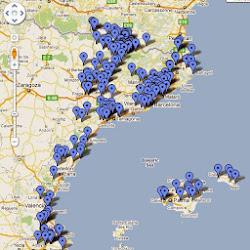 Mapa dels refranys de pobles dels Països Catalans