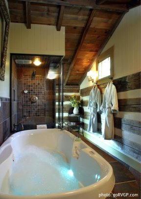 William Rouse Log Cabin Retreat Bathroom