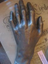Escultura de la mano izquierda de Chopin