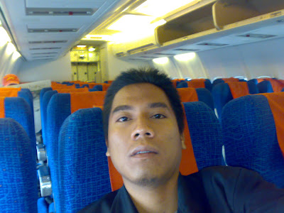 Trip to Bengkulu Province, Sumatera. On the plane, flight to Bengkulu, sumatera