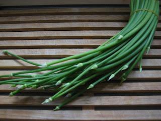 garlic shoots, suen sum, suantai