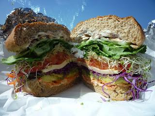 veggie sandwich; Sebastian's San Simeon; sandwich; vegetarian sandwich